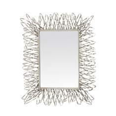 Miroir filaire argenté
