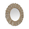 Miroir rond en bois naturel