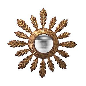 Miroir soleil convexe doré
