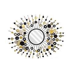 Miroir soleil Pasti noir et doré