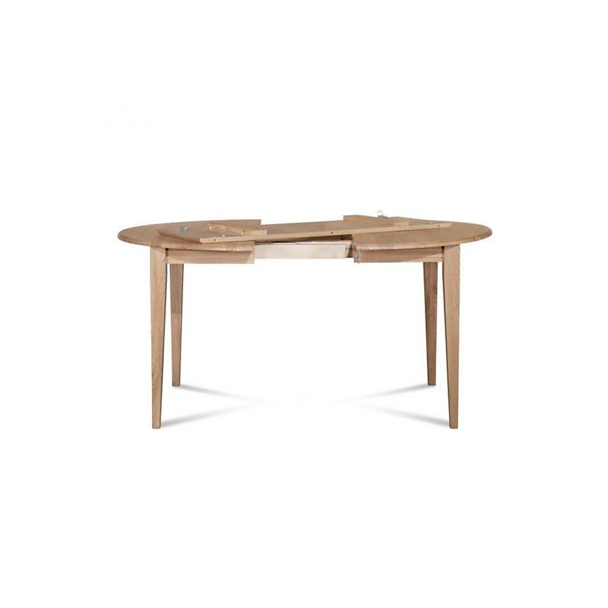 Table ronde extensible bois à rallonges 105 cm pieds fuseau VICTORIA