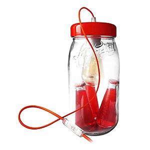 Lampe bocal Le Parfait 3 litres rouge