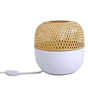 Lampe à poser Duo bambou blanc laqué et