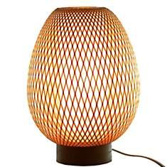 Lampe en bambou naturel Egg