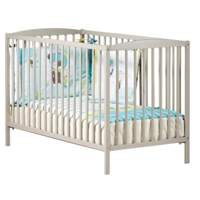 Lit bébé 120x60 tout barreaux laqué Basic