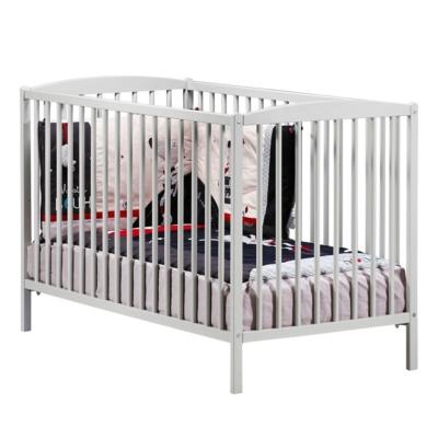 Lit bébé 120x60 tout barreaux laqué Basi