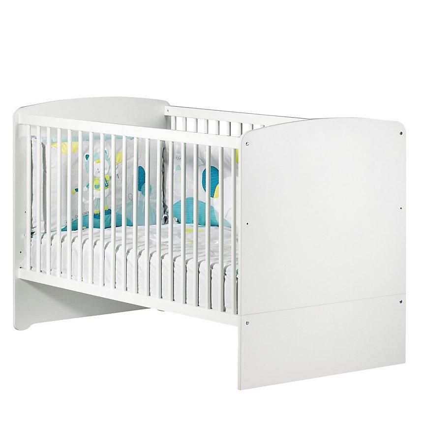 Lit bébé évolutif 140x70 Little Big Bed Blanc Basic