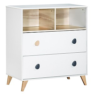 Commode 2 tiroirs 2 niches Oslo gouttes