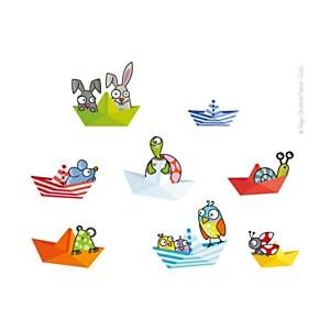 Sticker petits bateaux