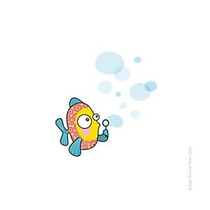 Sticker poisson-bulle