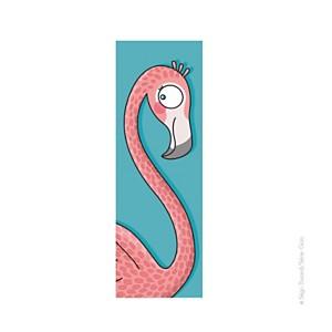 Tableau tête de flamant rose