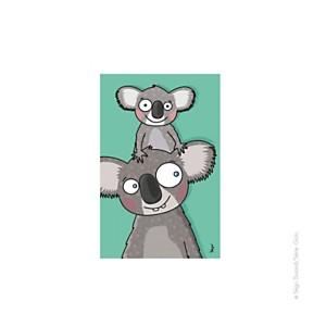 Tableau tête de koalas