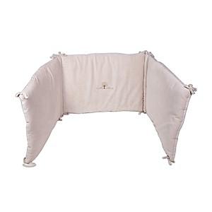 Tour de lit en coton Bio velours 45 x 190 cm