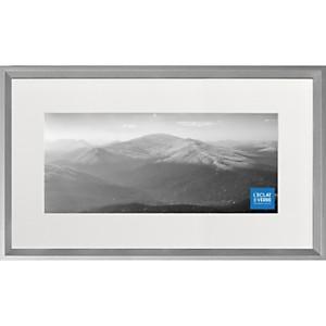 Cadre photo panoramique gris alu avec pa