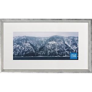 Cadre photo panoramique argenté avec pas