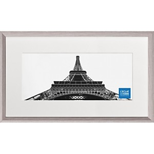 Cadre photo panoramique gris clair avec