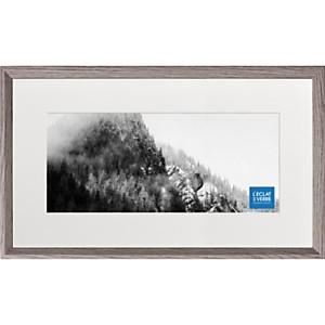 Cadre photo panoramique gris foncé avec