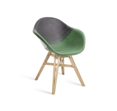 Chaise Gravêne Maximum vert modèle unique avec pieds en bois