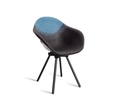 Chaise Gravêne Maximum noir modèle unique avec pieds en métal