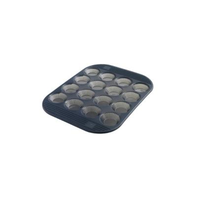Moule 16 tartelettes cannelées en silicone