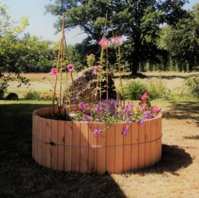Jardinière circulaire en bois 550 Litres