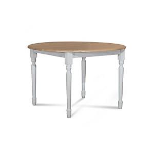 Table Victoria pieds ronds avec 3 allonges blanc