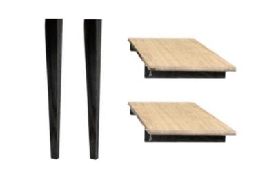 Table Victoria pieds fuseau avec 3 allonges