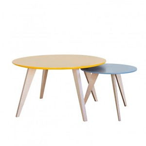 Tables Basses Clementine Jaune Moutarde