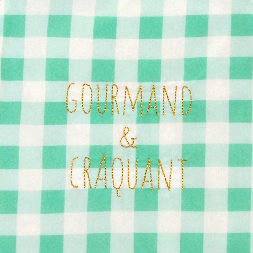 Bavoir élastique Gourmand et Craquant