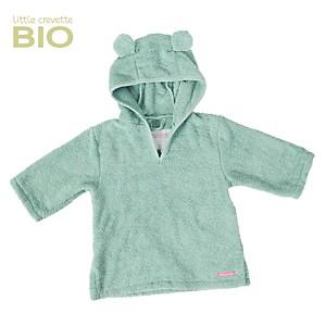 Poncho de bain enfant Ours vert céladon