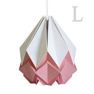 Grande Suspension Origami en Papier Bicolore Rose