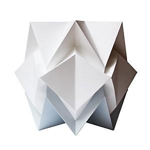 Lampe à poser Origami en papier Bicolore Gris perle