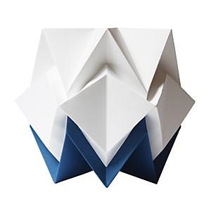 Lampe à poser Origami en papier Bicolore Bleu marine