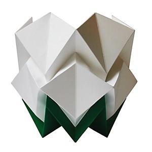 Lampe à poser Origami en papier Bicolore Vert sapin