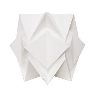 Lampe à poser Origami en papier Uni Blanc