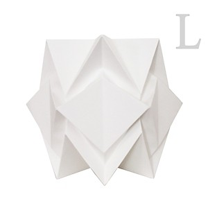 Lampe de sol Origami en papier Uni