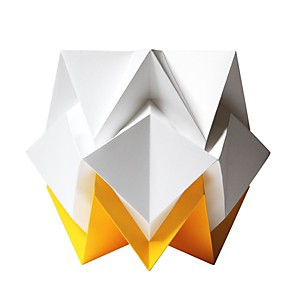 Lampe de table Origami en papier Bicolore Jaune