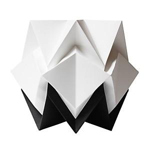 Lampe de table Origami en papier Bicolore Noir