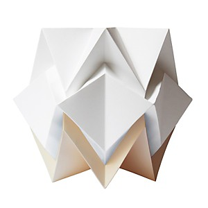 Lampe de table Origami en papier Bicolore Beige