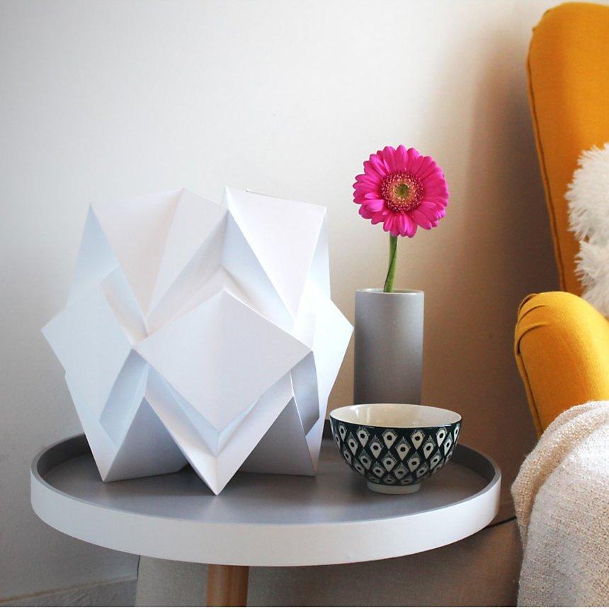 Lampe de table Origami en papier Uni