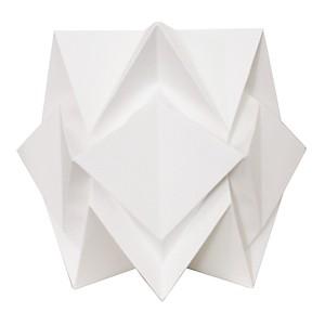 Lampe de table Origami en papier Uni Blanc