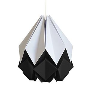 Suspension Origami en Papier Bicolore Noir et blanc