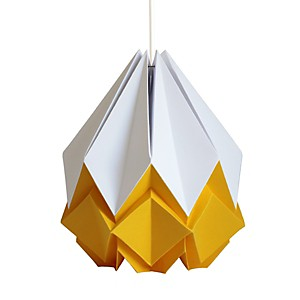 Suspension Origami en Papier Bicolore Jaune or et blanc
