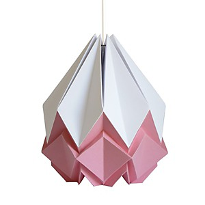 Suspension Origami en Papier Bicolore Rose et blanc