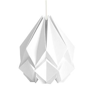 Suspension Origami en Papier Uni Blanc