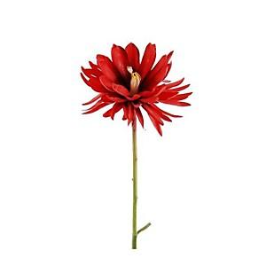 Fleur à tige Lotus rouge