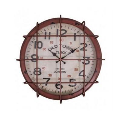 Pendule industrielle rouge vintage