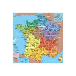 Puzzle carte de France des départements
