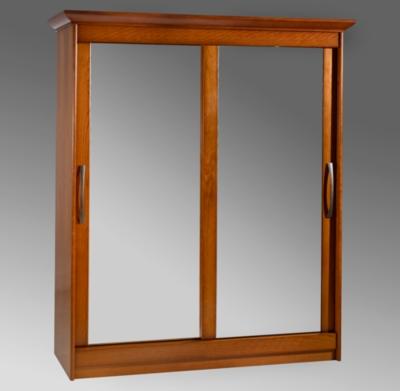 Armoire 2 portes miroir coulissantes  Monika