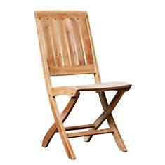 Lots de 2 chaises en pliantes en bois  M